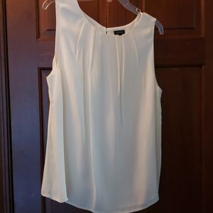 Talbots cream silk blouse